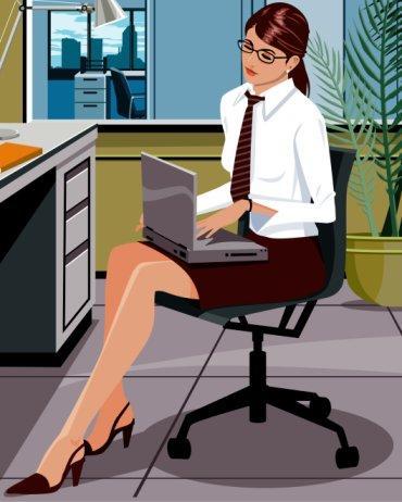 610+ Gambar Kartun Orang Kerja Kantor HD